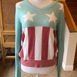 Wildfox American Flag Sweatshirt